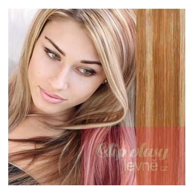 20 inch (50cm) Clip in human REMY hair - mixed blonde