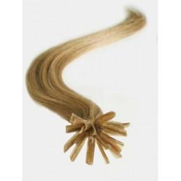 Vlasy evropského typu k prodlužování keratinem 50cm - růžové