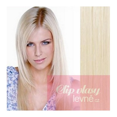 20 inch (50cm) Tape IN human REMY hair - platinum blonde