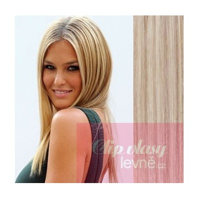 20 inch (50cm) Tape IN human REMY hair - platinum/light brown