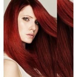 Clip in vlasy 43cm 100% lidské - REMY 70g – platina/světle hnědá