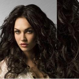 Clip in vlnité vlasy pravé lidské REMY 53cm - platina/světle hnědá