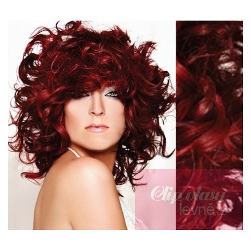 20 Inch 50cm Clip In Curly Human Remy Hair Copper Red