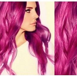 Vlasy pro metodu Pu Extension / TapeX / Tape Hair / Tape IN 40cm - platina/světle hnědá