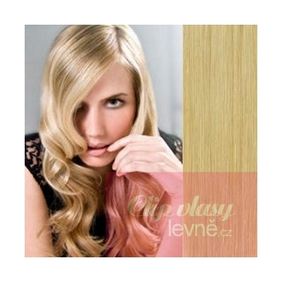 20 inch (50cm) Clip in human REMY hair - natural blonde