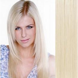 Vlasy evropského typu k prodlužování keratinem 50cm - světle hnědé