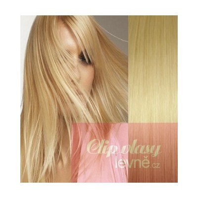 20 inch (50cm) Clip in human REMY hair - light blonde