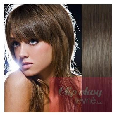 Clip in 100% human hair REMY bang - dark brown