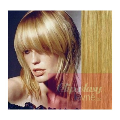 Clip in 100% human hair REMY bang - light blonde/natural blonde