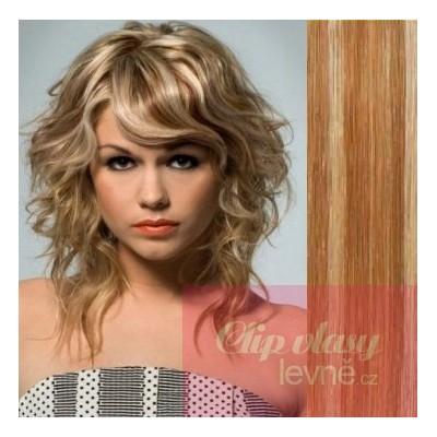 Clip in 100% human hair REMY bang - mixed blonde