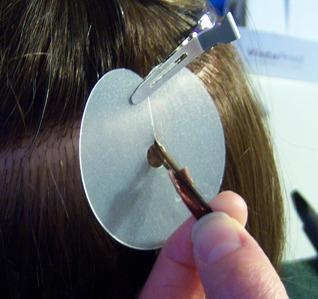 Nail hair extension application 2