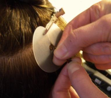 Nail hair extension application 4