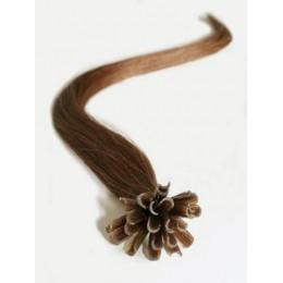 Clip in maxi set 43cm pravé lidské vlasy - REMY 140g - přírodní blond