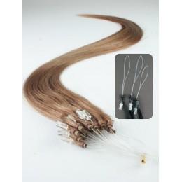 Clip in maxi set 43cm pravé lidské vlasy - REMY 140g - platina/světle hnědá