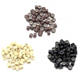 Micro rings with silicone - 50pcs