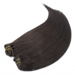 16 inch (40cm) Deluxe clip in human REMY hair - natural black