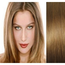 Clip in maxi set 63cm pravé lidské vlasy – REMY 240g – PŘÍRODNÍ/SVĚTLEJŠÍ BLOND