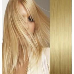 Clip in maxi set 63cm pravé lidské vlasy – REMY 240g – SVĚTLÝ MELÍR