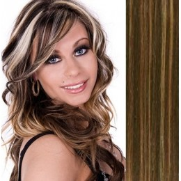Vlasy evropského typu k prodlužování keratinem 50cm - přírodní blond